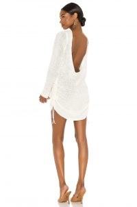 SNDYS LOUNGE Turn Back Time Mini Dress | scoop neck dresses | evening knitwear