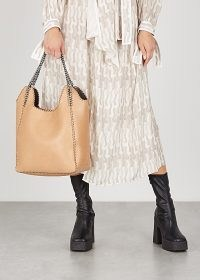 STELLA MCCARTNEY Falabella Two Chain large camel tote ~ luxe faux leather handbag