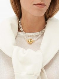 TIMELESS PEARLY Sterling-silver pendant necklace – contemporary necklaces