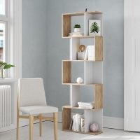 Mayberry Bookcase by 17 Stories – elegant and simple s-shaped design