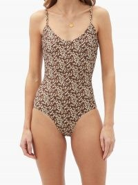 MATTEAU The Scoop floral-print swimsuit / brown swimsuits
