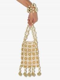 Vanina beaded chain shoulder bag ~ bead embellished bags