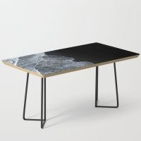 Waves on a black sand beach in Iceland – minimalist Landscape Photography Coffee Table by Michael Schauer – own a coffee table that stands out from the crowd