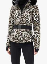 GOLDBERGH Wild leopard-print faux fur-trimmed ski jacket ~ wild cat prints ~ winter jackets