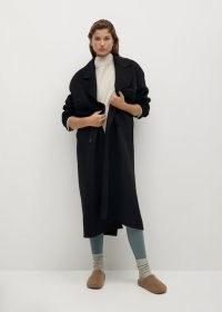 MANGO BOY Wool double-breasted coat ~ longline winter coats