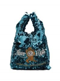 ANYA HINDMARCH After Eights sequinned recycled-satin tote bag | shiny sequin evening bags | party accessories