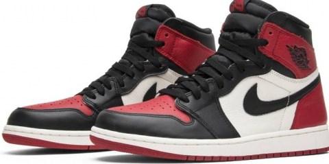 Air Jordan 1 Retro High OG 'Bred Toe' – GOAT - flipped