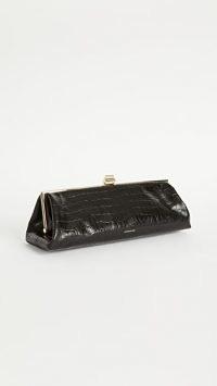 ANINE BING Kiara Clutch | black elongated bags | vintage style handbags