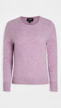 A.P.C. Leonie Sweater ~ mauve crew neck sweaters