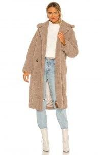 Apparis Daryna Faux Fur Coat – taupe textured winter coats
