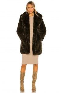 Apparis Sasha Faux Fur Coat Army Green – glamorous winter coats