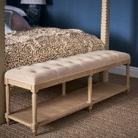 Ashdown Herringbone Solid Oak And Linen Bench – Taupe