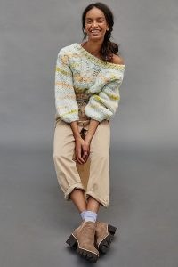 Anthropologie Jojo Cable-Knit Jumper | chunky knits | drop shoulder jumpers