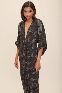 Tallulah & Hope Gloria Kimono Dress ~ plunge front maxi dresses ~ deep V neckline
