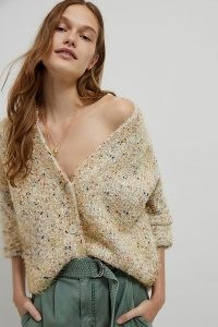 Maeve Nolie Shimmer Cardigan / shimmery metallic thread cardigans / speckled knitwear