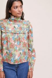 Meadows Heather Floral Blouse – ruffled high neck blouses