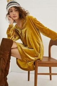 ANTHROPOLOGIE Melody Velvet Tunic Dress ~ soft feel dresses