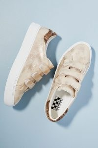 No Name Glow Jacquard Trainers / sports luxe footwear / shimmering sneakers