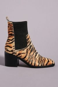 Silent D Nirvani Knit Chelsea Boots / animal stripes