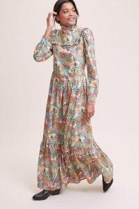 Meadows Heather Dress ~ romantic frill trim maxi dresses