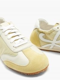 LOEWE Ballet Runner nylon and suede trainers | yellow sports luxe shoes
