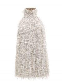 TALLER MARMO Barbarella silver halterneck fil-coupé dress ~ glamorous partywear ~ party glamour ~ metallic mini dresses