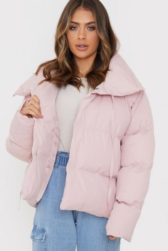BILLIE FAIERS PINK PUFFER JACKET ~ padded winter jackets ~ celebrity inspired outerwear - flipped