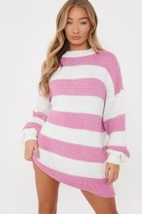 BILLIE FAIERS PINK STRIPE JUMPER DRESS | striped sweater dresses | celebrity inspired knitwear