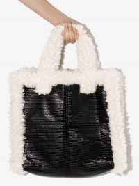 STAND STUDIO Lolita faux-shearling tote bag / fluffy fur trimmed bags