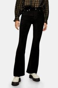 TOPSHOP Black Corduroy Jamie Flare Jeans ~ cord flares
