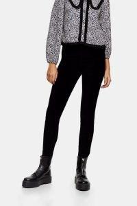 TOPSHOP Black Corduroy Jamie Skinny Jeans ~ cord skinnies