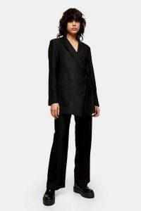 Topshop Boutique Black Wrap Suit ~ contemporary trouser suits