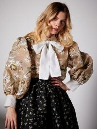 sister jane Center Stage Bow Blouse ~ puff sleeve blouses ~ balloon sleeves