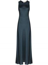 Asceno Valencia sleeveless maxi dress / fluid fabric dresses / silk clothing