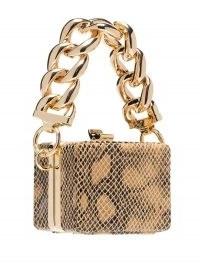 16Arlington Ralphie snake-print mini bag | small reptile effect leather bags