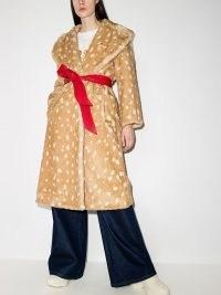 The Marc Jacobs animal print tied waist coat – faux fur winter coats