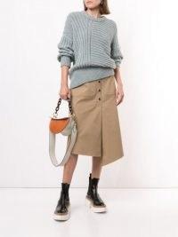 Tibi A-line asymmetric hem skirt ~ uneven hem skirts