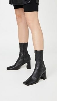 BY FAR Philip Boots ~ black square toe boots