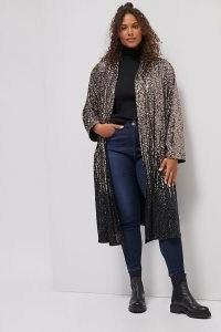 BB Dakota Dulcinea Sequined Duster Jacket / glittering longline sequinned jackets