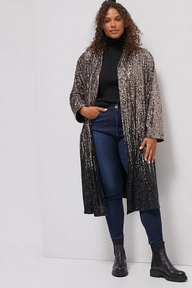 BB Dakota Dulcinea Sequined Duster Jacket / glittering longline sequinned jackets