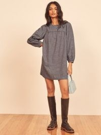 REFORMATION Celina Dress / checked dresses