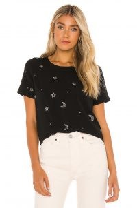 Chaser Beaded Stars Short Sleeve Beaded Easy Tee – celestial inspired t-shirts