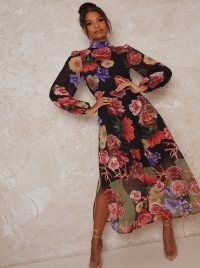Chi Chi Bevin Dress ~ high neck floral dresses