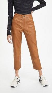 Citizens of Humanity Emma Leather Patch Pocket Pants ~ cropped trousers