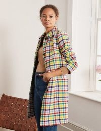Boden Clifford Coat – Rainbow Check / checked coats