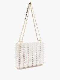 PACO RABANNE Clover chainmail leather shoulder bag ~ chain linked handbags
