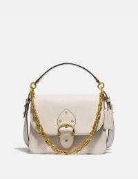 COACH Beat Shoulder Bag B4/Chalk | chain strap bags