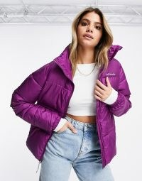 Columbia Puffect jacket in purple ~ bright padded winter jackets
