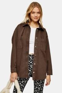 TOPSHOP CONSIDERED Brown Denim Shacket ~ shackets ~ shirts
