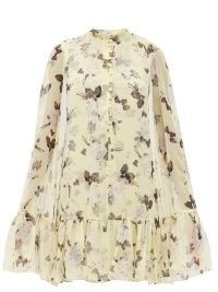 ERDEM Constantine Rosemont Wallpaper-print cape dress ~ floaty feminine floral dresses